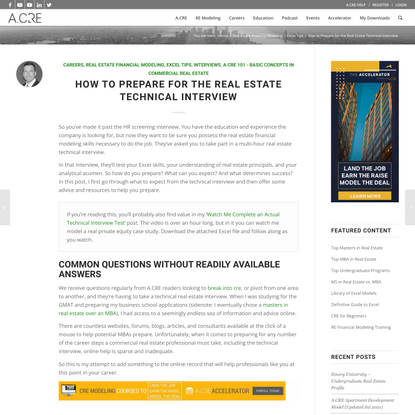 How to Prepare for a Real Estate Technical Interview