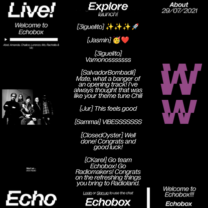 Echobox Radio – Independent, online radio station maintaining DIY enthusiasm with the quality of FM.