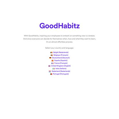 GoodHabitz Online Training