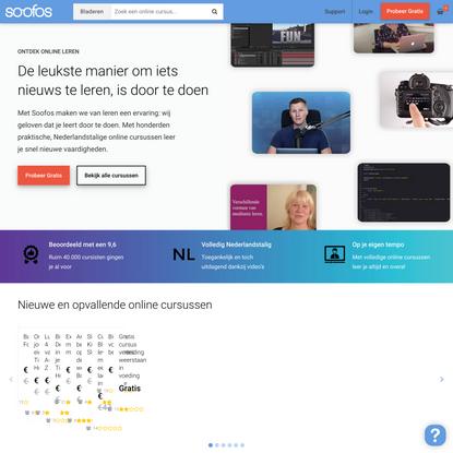 500+ Nederlandstalige Online Cursussen - Soofos