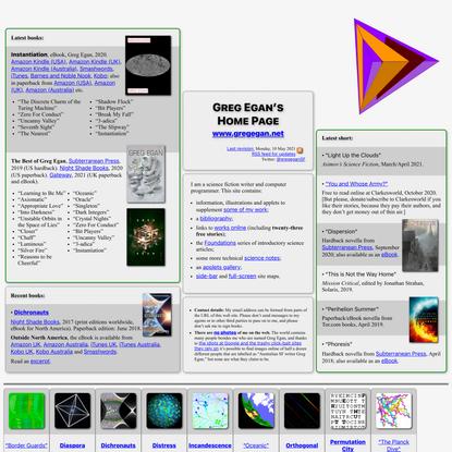 Greg Egan's Home Page