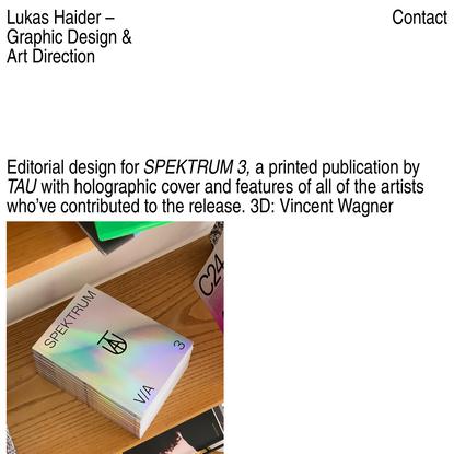 Lukas Haider –Graphic Design & Art Direction