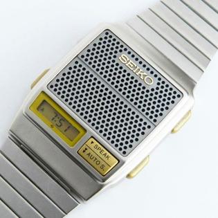 Seiko A966 Digital LCD Talking Watch, 1984