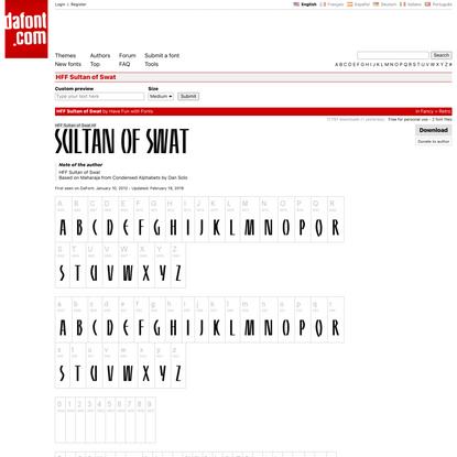 HFF Sultan of Swat Font | dafont.com