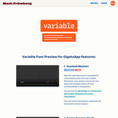 Mark Frömberg - type & design   Variable Font Preview