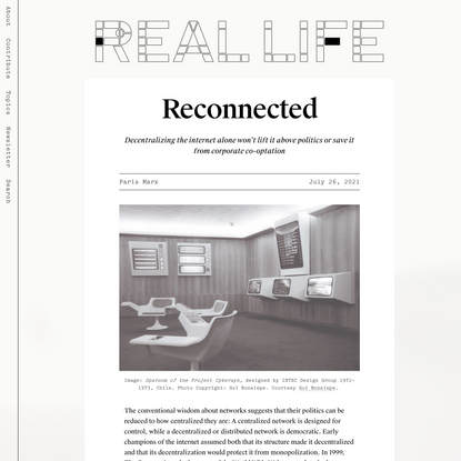 Reconnected — Real Life