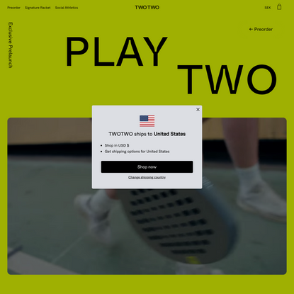 The Play Two Racket   TWOTWO