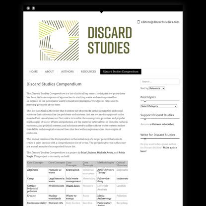 Discard Studies Compendium