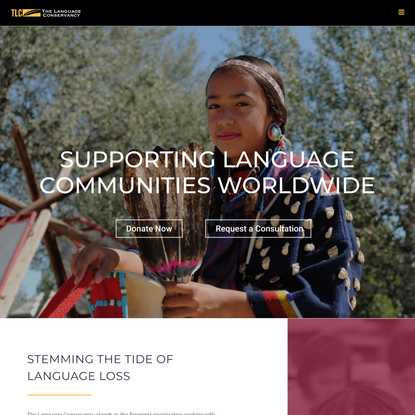 The Language Conservancy - Supporting Language Communities Worldwide