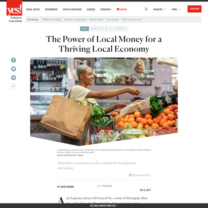 The Power of Local Money for a Thriving Local Economy