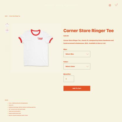 Corner Store Ringer Tee —