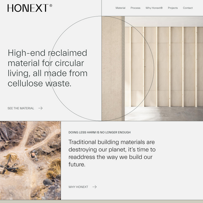 Sustainable building materials   Honext