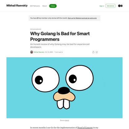 Why Golang Is Bad for Smart Programmers?