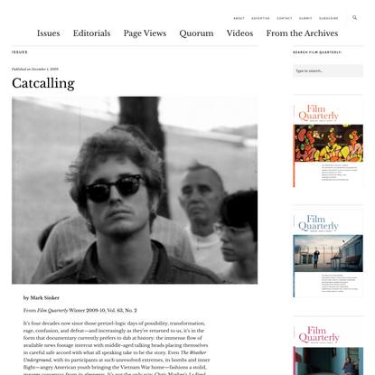 Catcalling   Film Quarterly