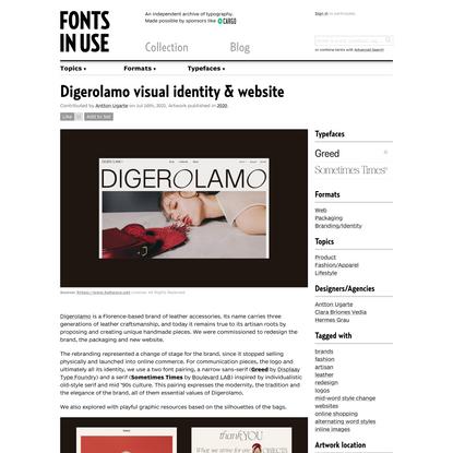 Digerolamo visual identity & website