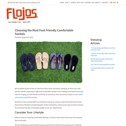 Choosing the Most Foot-Friendly Comfortable Sandals - Flojos