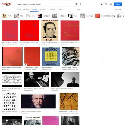 coming together frederic rzewski - Google Search