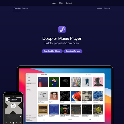 Doppler Music Player for Mac and iPhone
