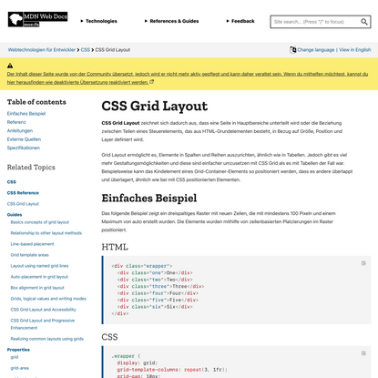 CSS Grid Layout - CSS | MDN