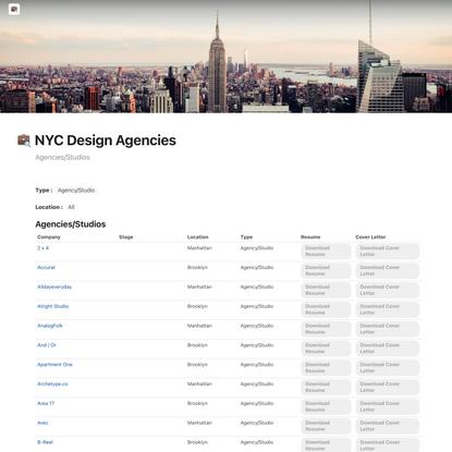NYC Design Agencies