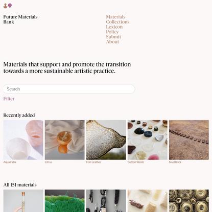Materials - Future Materials Bank