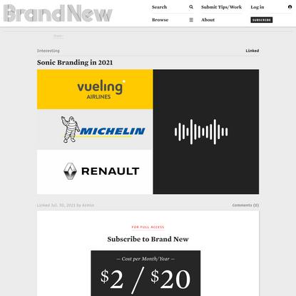 Brand New: Sonic Branding in 2021
