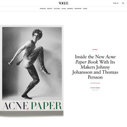 Inside the New Acne Paper Book With Its Makers Johnny Johansson and Thomas Persson