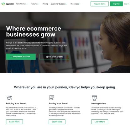 The Growth Marketing Platform for Online Businesses - Klaviyo