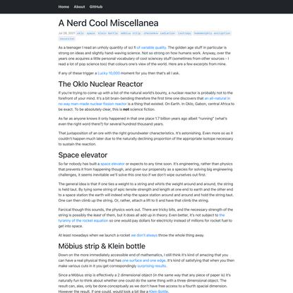 A Nerd Cool Miscellanea | Paperstack