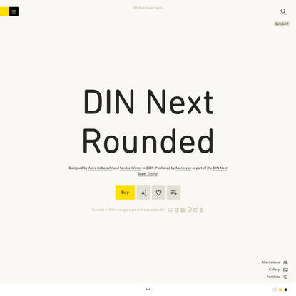 DIN Next Rounded Font