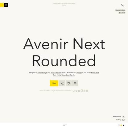 Avenir Next Rounded Font