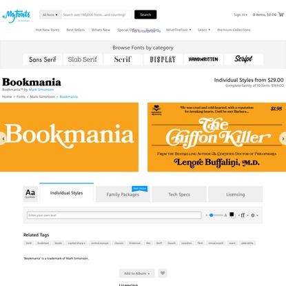 Bookmania Font | Webfont & Desktop | MyFonts