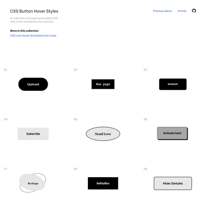 CSS Button Styles for Links | Codrops
