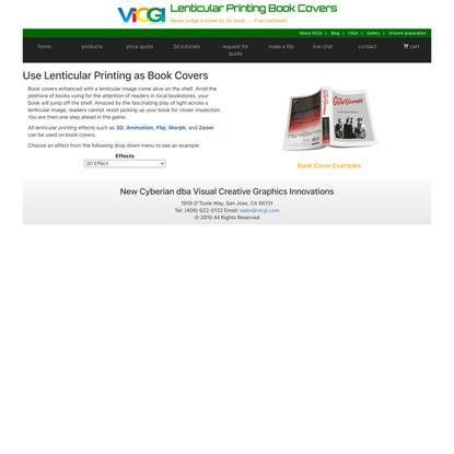 Lenticular Printing Book Covers