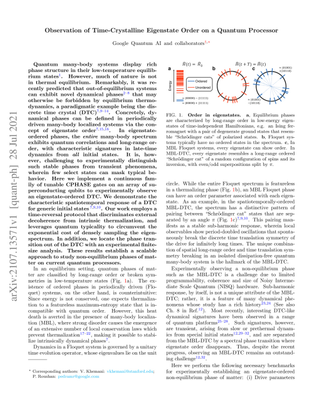 Observation of Time-Crystalline Eigenstate Order on a Quantum Processor