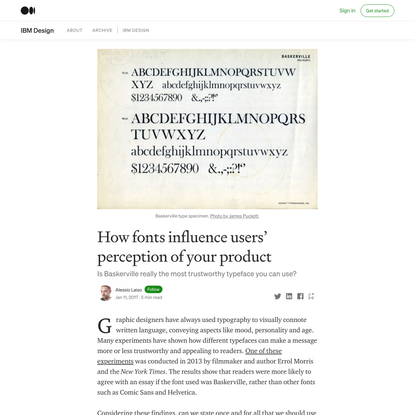 How fonts influence users' perception of your product | by Alessio Laiso | IBM Design | Medium