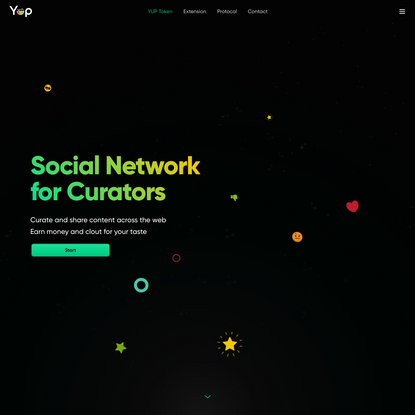 Yup • Social Network for Curators