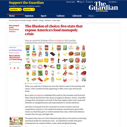 The illusion of choice: five stats that expose America's food monopoly crisis