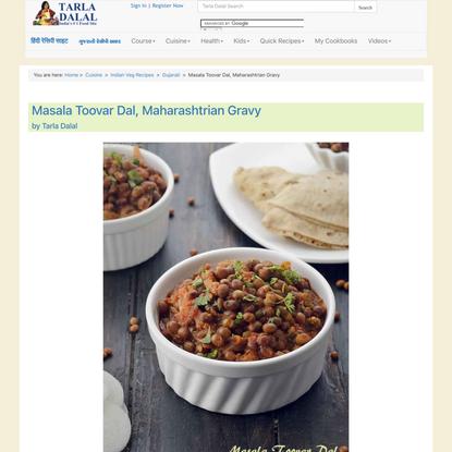Masala Toovar Dal, Maharashtrian Gravy recipe