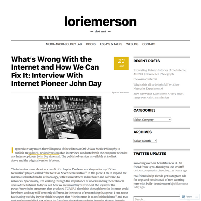 What's Wrong With the Internet and How We Can Fix It: Interview With Internet Pioneer John Day