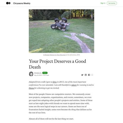 Your Project Deserves a Good Death