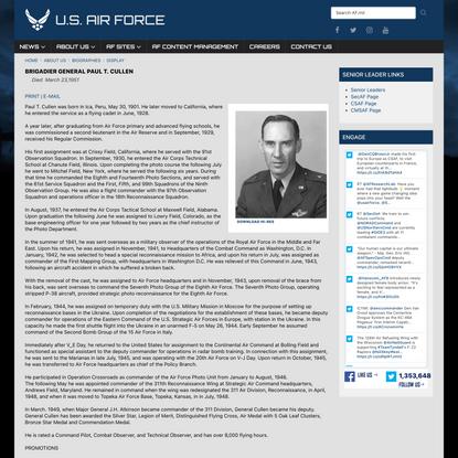 BRIGADIER GENERAL PAUL T. CULLEN