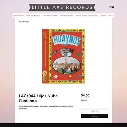 LAC•044 Lejos Nube Cantando | Little Axe Records