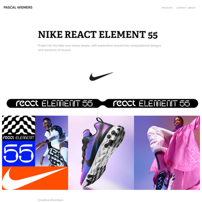 Pascal Wiemers - NIKE REACT ELEMENT 55