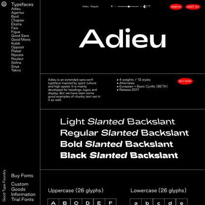 Adieu — Good Type Foundry