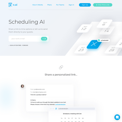 Instant Meeting Scheduling   x.ai