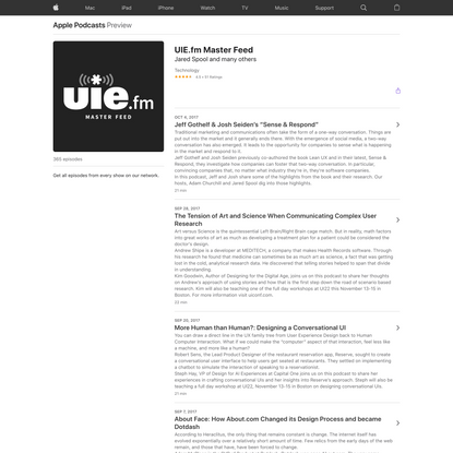 UIE.fm Master Feed on Apple Podcasts