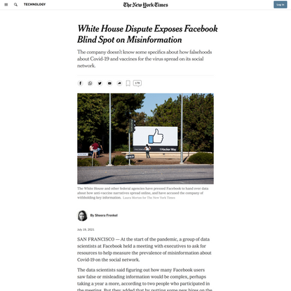 White House Dispute Exposes Facebook Blind Spot on Misinformation