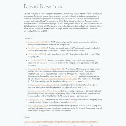 David Newbury