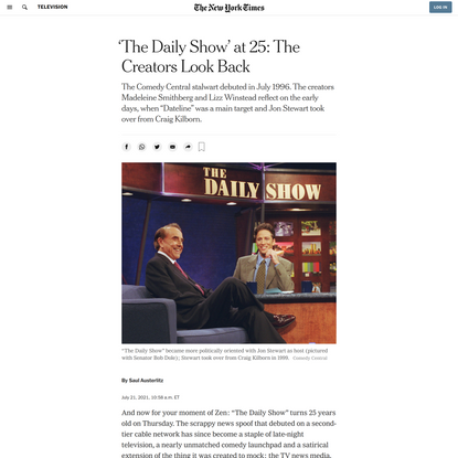 'The Daily Show' at 25: The Creators Look Back